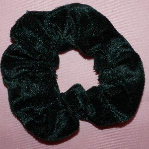 Dark Green Velvet Scrunchie